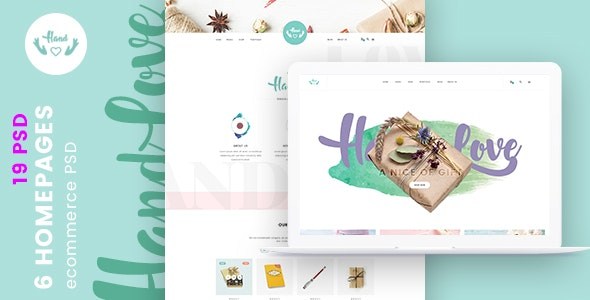 HandLove  E-Commerce PSD Template - Photoshop UI Templates