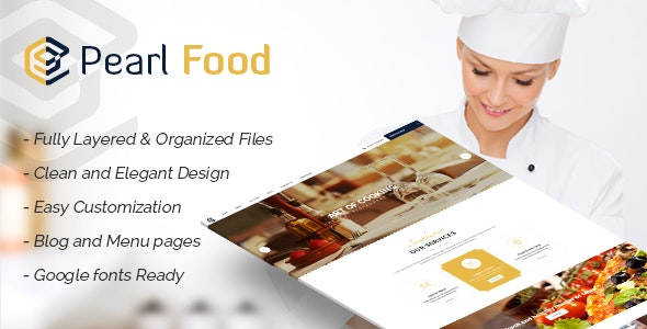 Pear - Hotel & Resturant Template - Corporate Photoshop