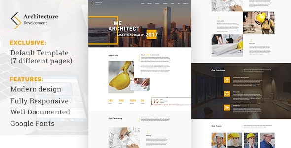 Architecture Development - Modern Constuction Website Template - Business Corporate