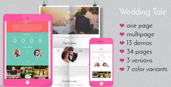 Wedding Tale - Responsive HTML Template - Wedding Site Templates