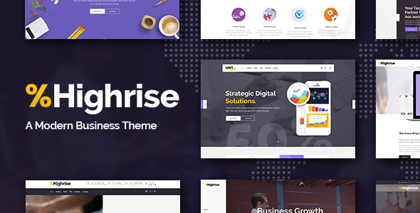 Highrise - Business, Corporation and Consulting Company Theme - Business Corporate