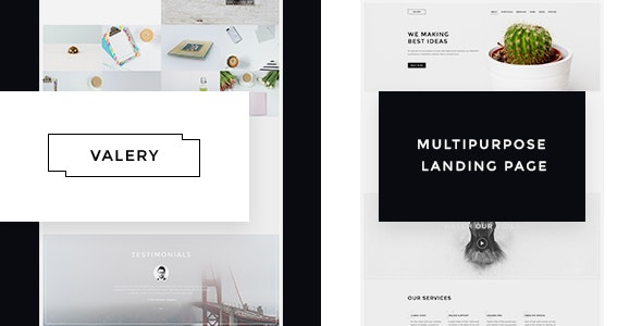 Valery- Responsive Multipurpose Bootstrap  Landing Page - Landing Pages Marketing