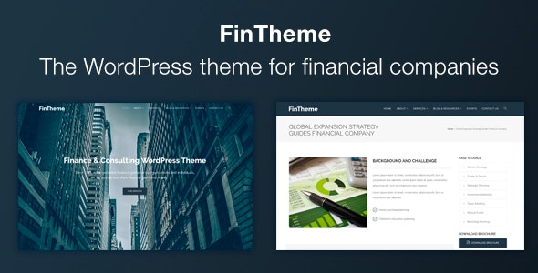 FinTheme - Finance & Consultants WordPress Theme - Business Corporate