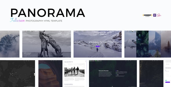 PANORAMA - Fullscreen Photography HTML Template by Madeon08