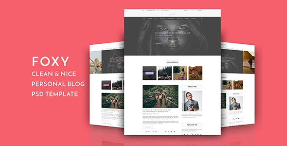 Foxy Blog PSD Template - Personal PSD Templates