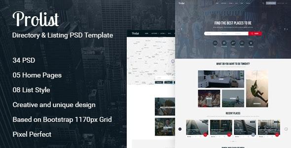 Prolist - Directory Listing PSD Template - Corporate PSD Templates