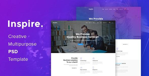 Inspire. - Creative Multipurpose PSD template - Business Corporate