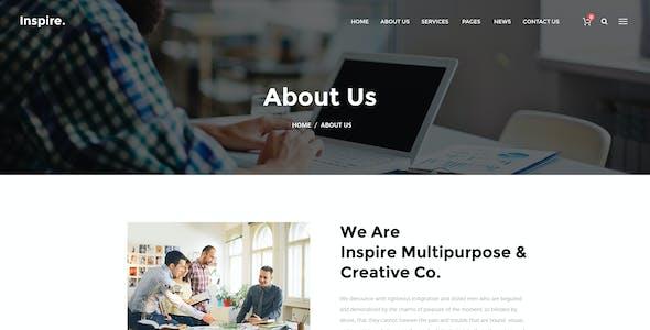 Inspire. - Creative Multipurpose PSD template