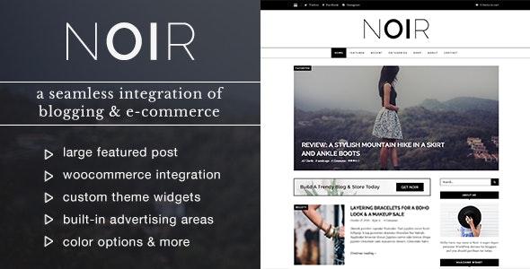 Noir - Blog & Shop WordPress Theme - Personal Blog / Magazine
