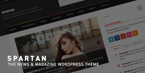 Spartan Magazine - News Blog WordPress Theme - News / Editorial Blog / Magazine