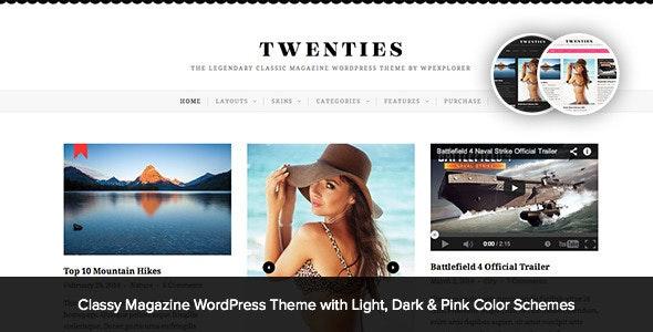 Twenties - Clean, Responsive Blog WordPress Theme - Personal Blog / Magazine