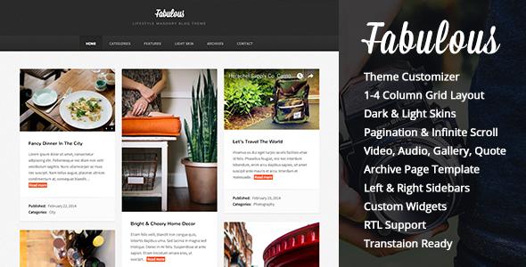 Fabulous - Responsive Masonry Blog WordPress Theme - Personal Blog / Magazine