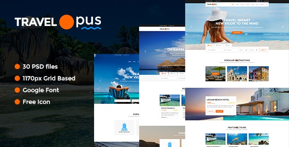 Travel Opus PSD Templates - Business Corporate