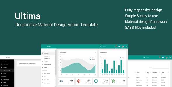 Ultima - Responsive Material Design Admin/Dashboard