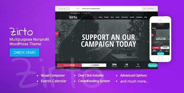 Zirto - Charity Crowdfunding Theme - Charity Nonprofit