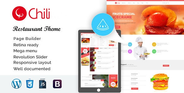 RedChili - WordPress Restaurant Theme - Restaurants & Cafes Entertainment
