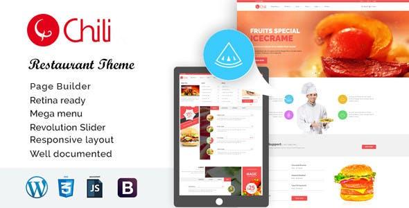 RedChili - WordPress Restaurant Theme
