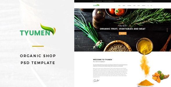 Tyumen - Organic Shop PSD Template - Food Retail