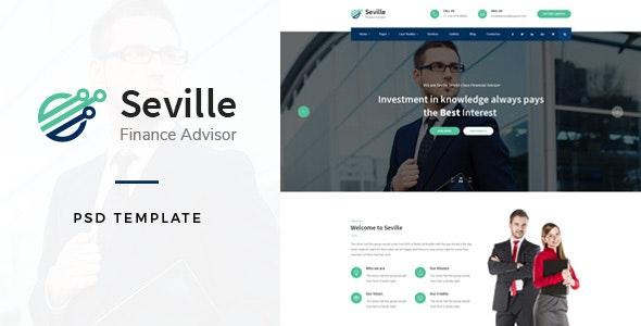 Seville - Financial Advisor PSD Template - Business Corporate