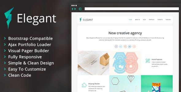 Elegant - Clean Portfolio WordPress Theme