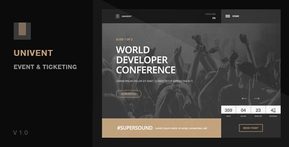 Univent | Event Landing Page & Ticketing - Events Entertainment