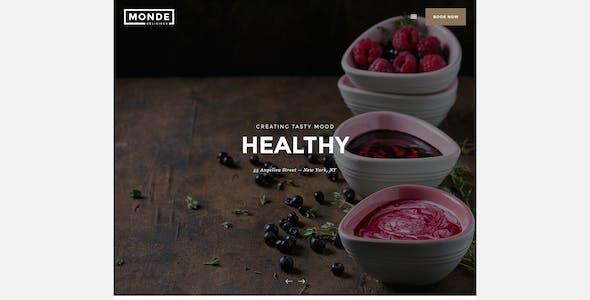 Monde - Restaurant PSD Template