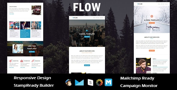 Flow - Multipurpose Responsive Email Template + Stampready Builder - Email Templates Marketing