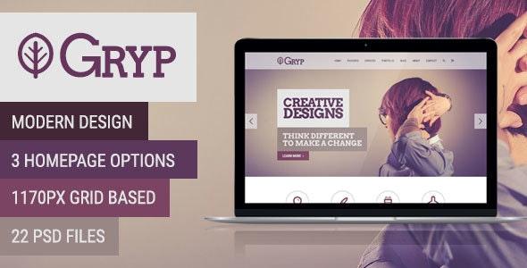 Gryp - Multi-Purpose PSD Template - Creative PSD Templates