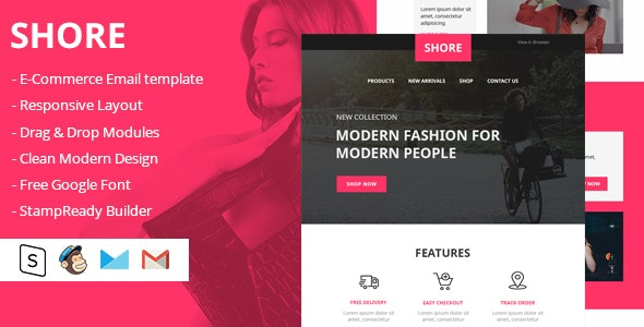 Shore Html Email Template - Email Templates Marketing