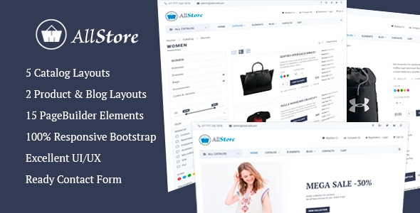 AllStore - MultiConcept eCommerce Shop Template - Shopping Retail