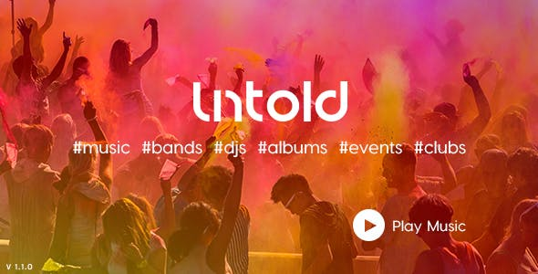 UNTOLD -  An Unusual Music HTML5 Template