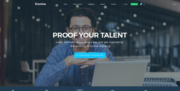 Bromine - Online Learning Platform PSD template