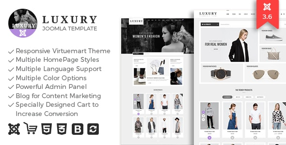 Luxury - Responsive Virtuemart Theme - VirtueMart Joomla