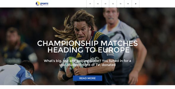 Sports Time Blog - PSD Template