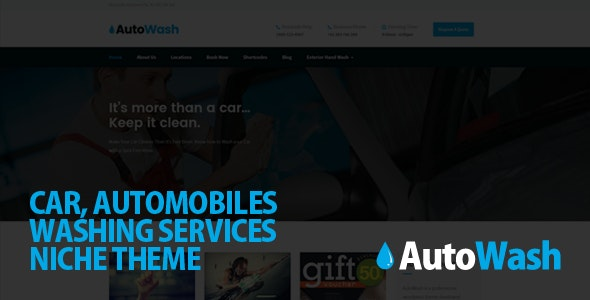AutoWash - Car | Automobiles Washing WordPress Theme - Business Corporate