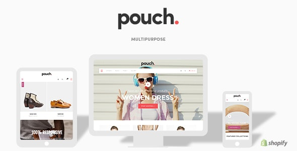 Pouch - Responsive Drag and Drop Shopify Theme - Shopify eCommerce