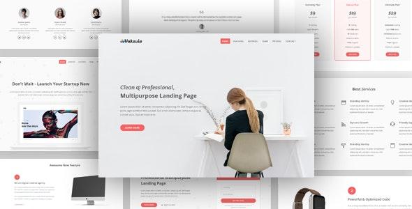 Vakavia - Multipurpose Landing Page Template - Landing Pages Marketing