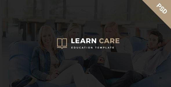 LearnCare- Educational PSD Template - Business Corporate