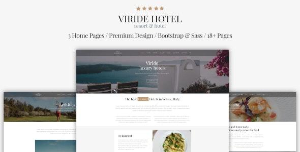 Viride - Hotel & Resort Premium HTML template - Travel Retail