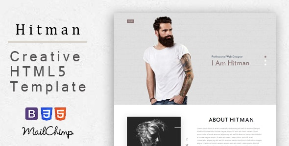 Hitman - Responsive Corporate, Business, Creative , Portfolio and  Blog Template - Creative Site Templates