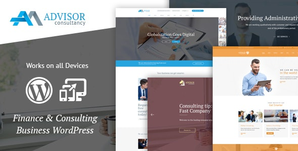 Advisor Consulting, Business, Finance WordPress Theme - Business Corporate