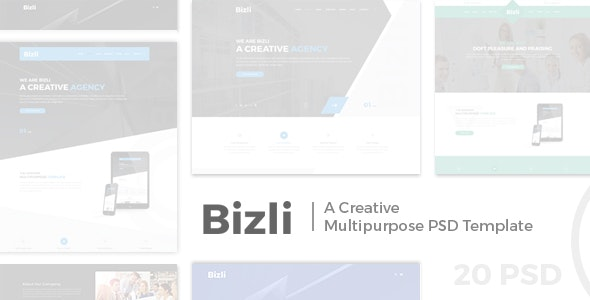 Bizli - Creative Multipurpose PSD Template - Creative Photoshop