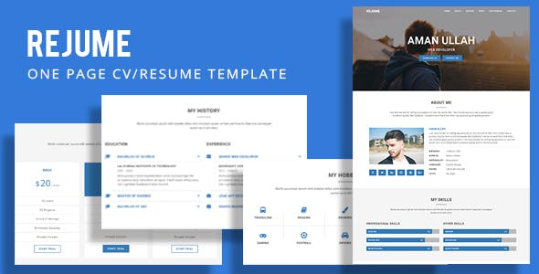 REJUME - Personal Resume Template