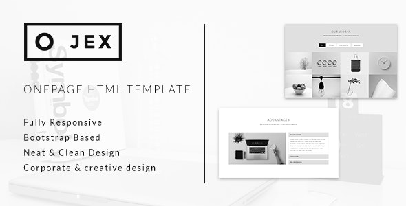 OJex - Onepage Responsive HTML Template - Corporate Site Templates