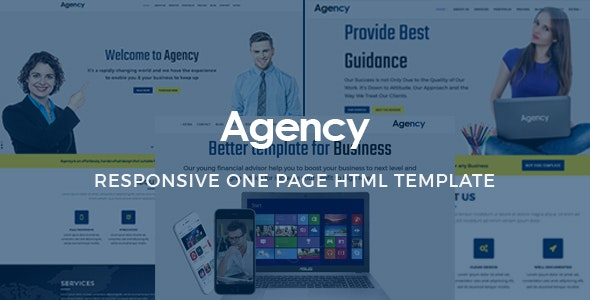 Agency - Onepage Multipurpose Template - Portfolio Creative