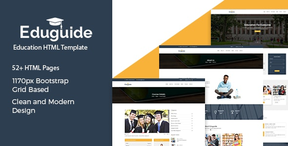 Eduguide – Education HTML Template - Nonprofit Site Templates