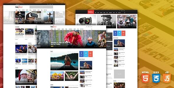 TodayExpress – News & Magazine HTML Template - Miscellaneous Site Templates