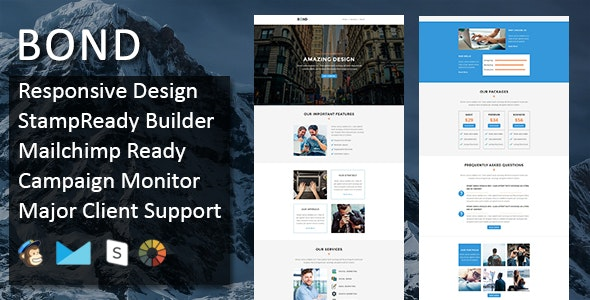 Bond - Multipurpose Responsive Email Template + Stampready Builder - Email Templates Marketing