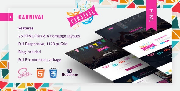 Carnival - Material Event HTML5 Template - Events Entertainment
