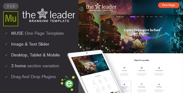 The Leader - Creative Business Muse Template - Creative Muse Templates